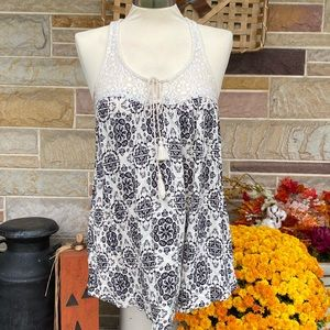 Maurices Lace Top Crinkle Tank Top